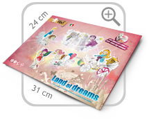 Land of dreams: gioca con fate, principi e streghe da colorar, con carrozza e cavalli!